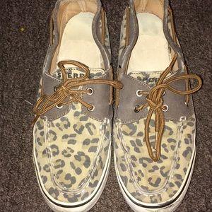 Sperrys leopard size 8 !